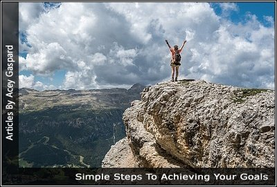 Image of a person on top of a mountain
