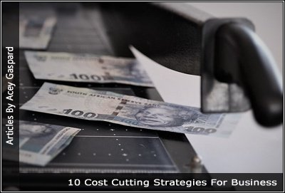 Image of money on a paper cutter