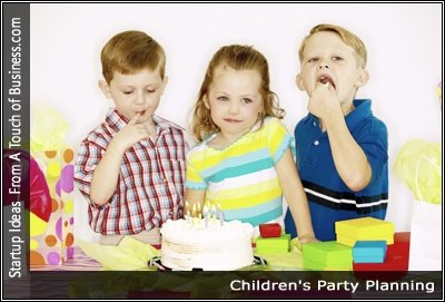 Image of kids eating party cake