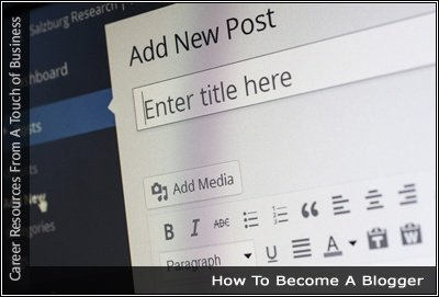 Image of a blog interface