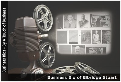 Image of a projector displaying images related toElbridge Stuart