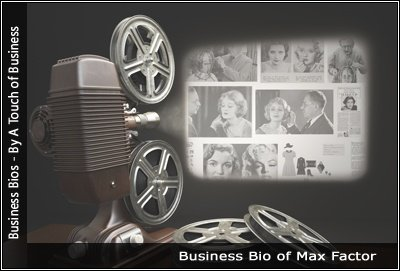 Image of a projector displaying images related toMax Factor