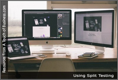 Image of 3 computers on a desk