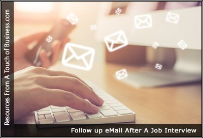 a collection of web pages about job follow up emails