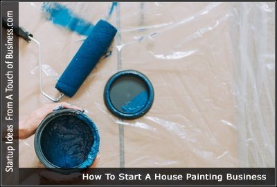 Image of a paint roller and a can of opened blue paint