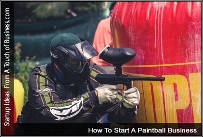 image of someone paintballing