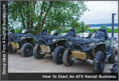 Image of A Line of ATVs