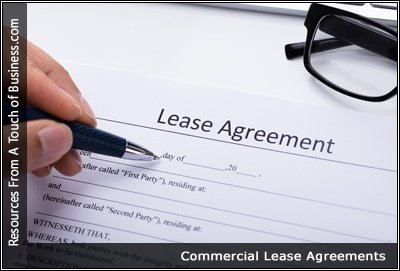 Image of somone signing a Lease Agreement