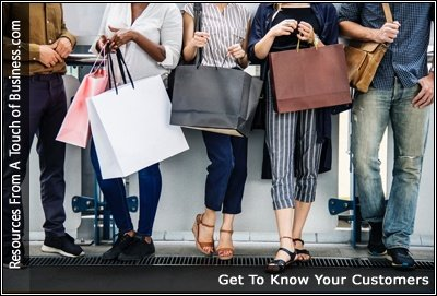 Image of people standing against a wall with shopping bags