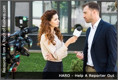 image of reporter interviewing someone