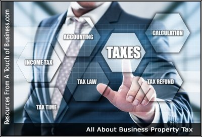 Image of a man tapping on a tax icon